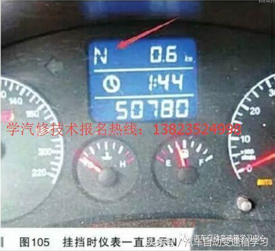同时仪表变速器故障指示灯点亮,但用X431PRO进入变速器挡位信息数据流,变速器数据流挡位控制部分可以显示正确的挡杆位置信息,表明非挂挡杆机构问题或者挡位输入信号问题,同时初步表明TCU没有问题。用X431PRO进入变速器系统,发现了如图106所示的故障码P0942,解释为液压回路压力低,针对P0942,可能的原因为选挡器液压泵线路故障、泵本身损坏、选挡液压系统泄漏导致压力不足、系统压力传感器损坏。