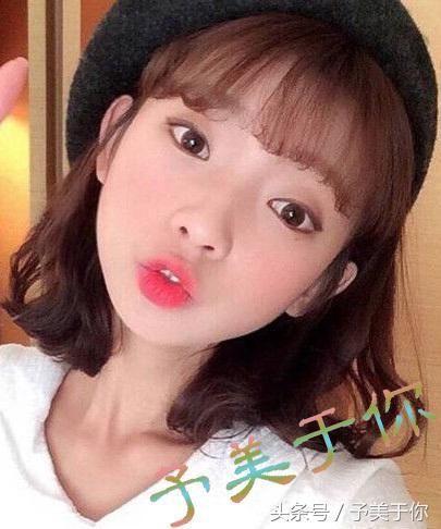 韩式短发发型图片,短发微卷设计时髦翻倍图片