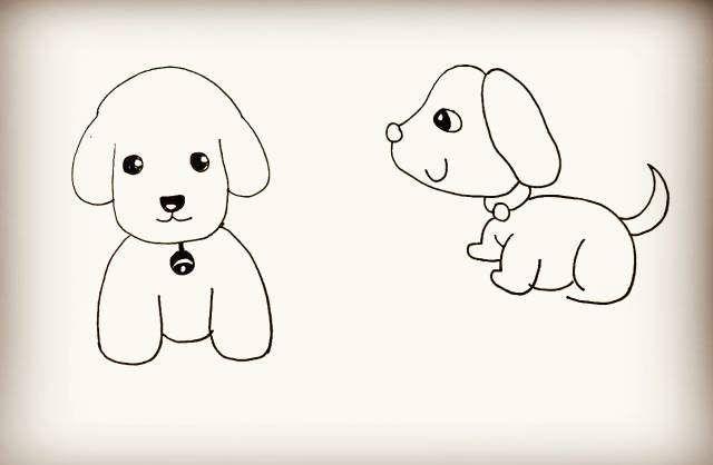 简笔画-可爱的小狗