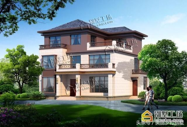 三层新中式别墅效果图