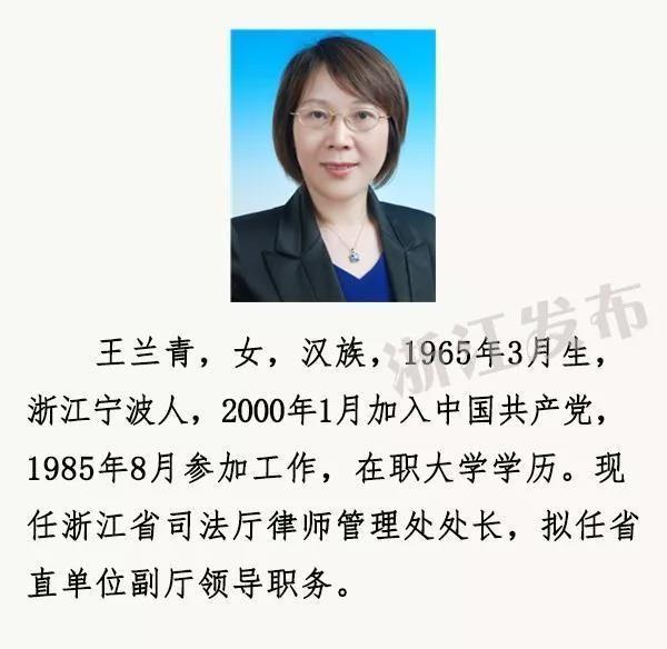 17名省管领导干部任前公示通告 有两位苍南人