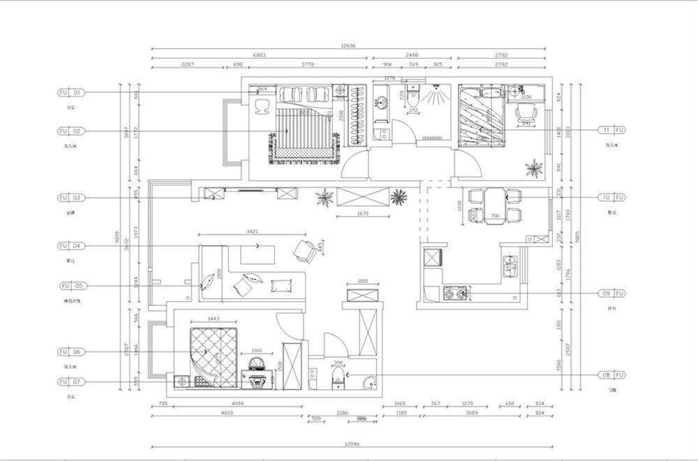 7万装修100平米三室一厅(图) 150平米房屋设计图 三室一厅装修明艳照图片
