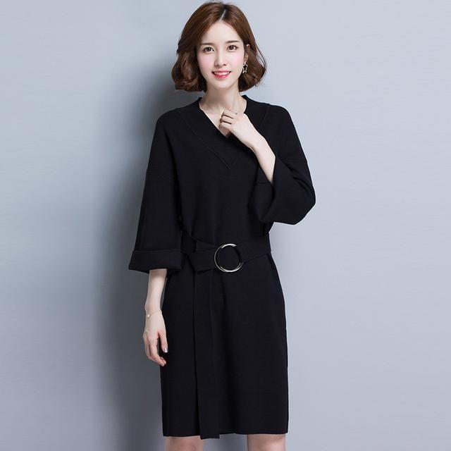 谁说胖MM不穿毛衣?宽松裙子裙,轻松穿出模情趣用品口珠图片