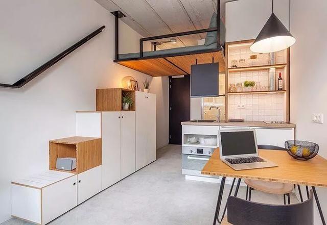 这套全能的小户型复式单身公寓,设计精巧灵动,功能完善,动线流畅图片