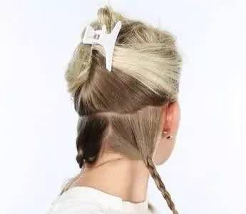 <b>时尚新娘发型靠发带就行</b>