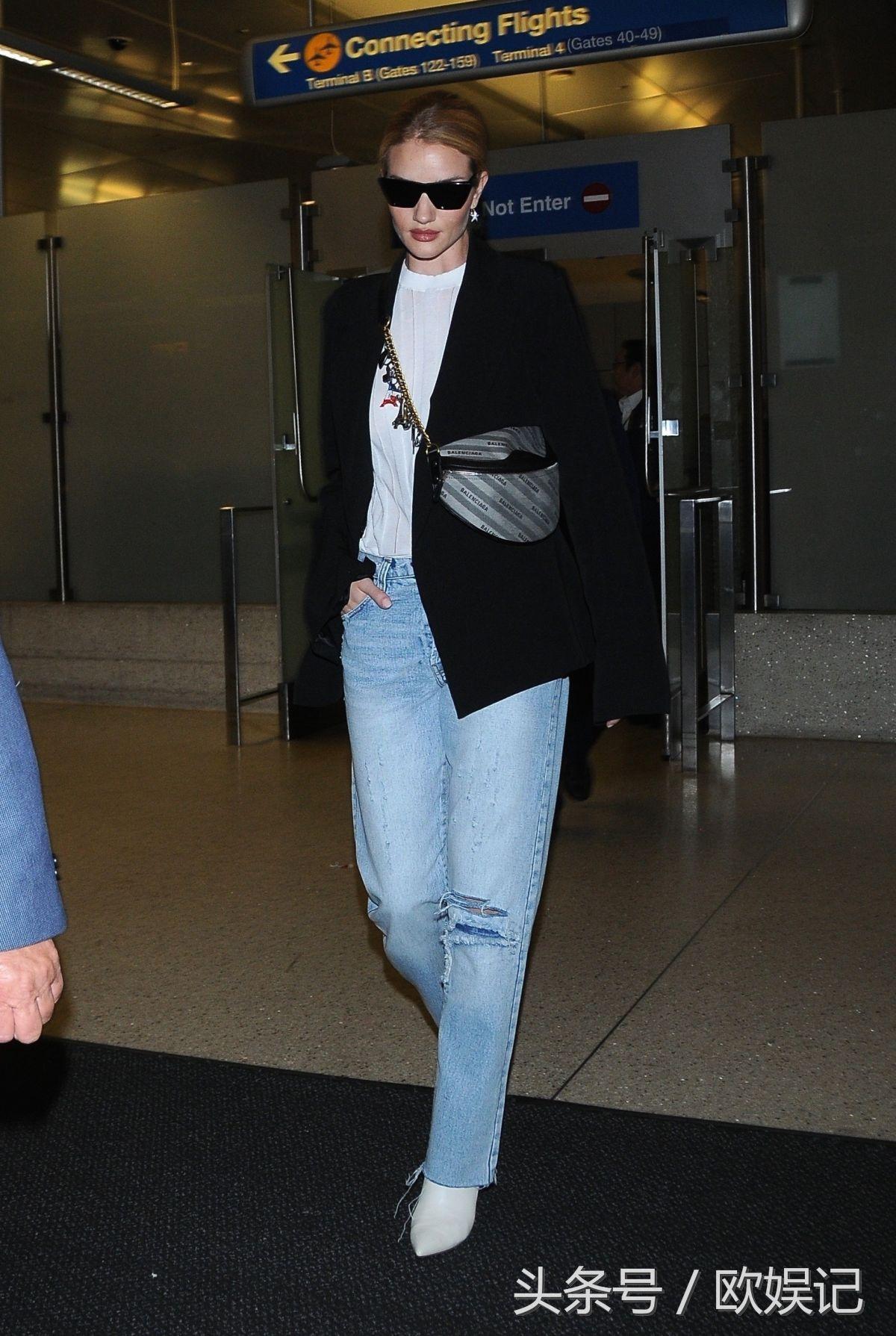 杰森斯坦森的老婆,戴墨镜现身机场,她真是时髦又霸气!