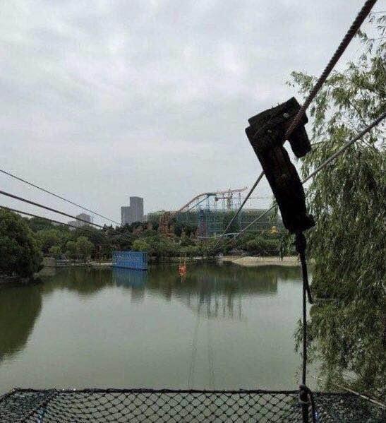 安徽合肥欢乐岛又出事了 女游客十几米坠亡