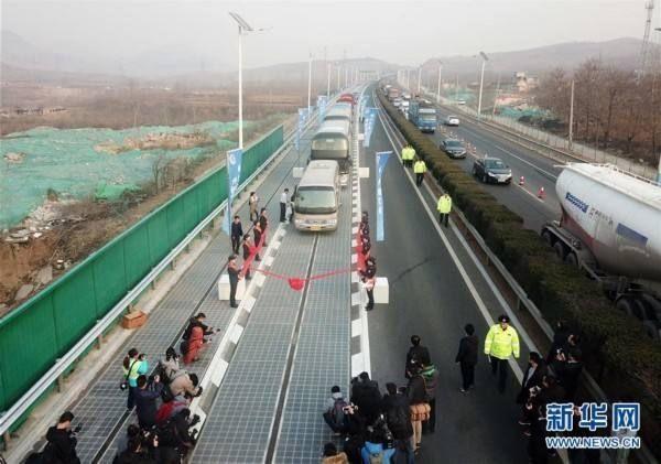 全球首段光伏高速公路,真有前景?图片