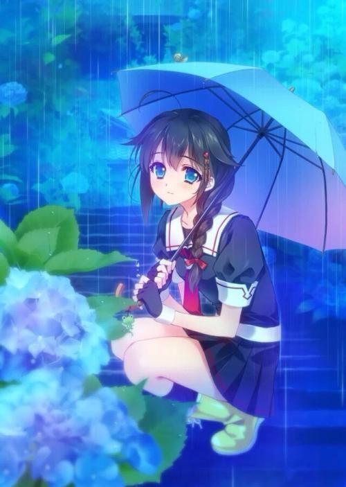 最美的打伞下雨天,是特别与你不是的女生躲雨第一章萨哈拉屋檐曾经图片