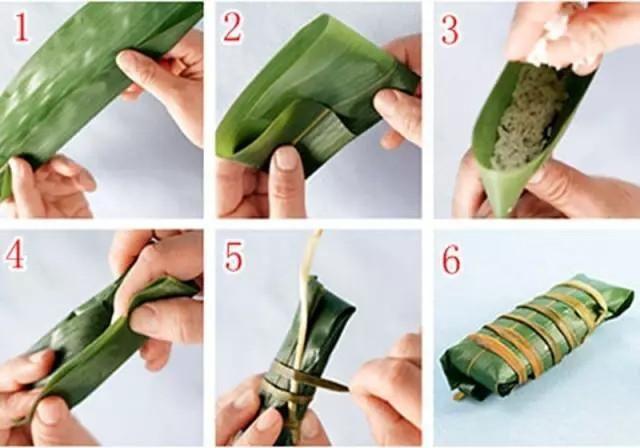 五,牛角粽子包法 牛角粽是我国广东地区比较流行的一种粽子,它的形状