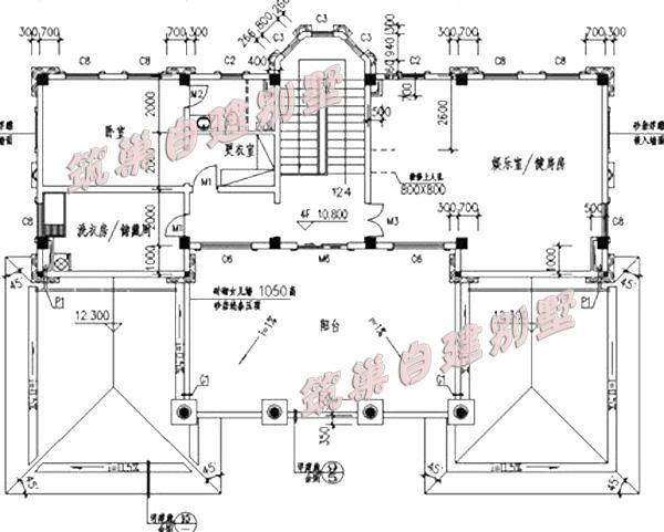 50万以上欧式四层别墅设计图20x18米,套间设计