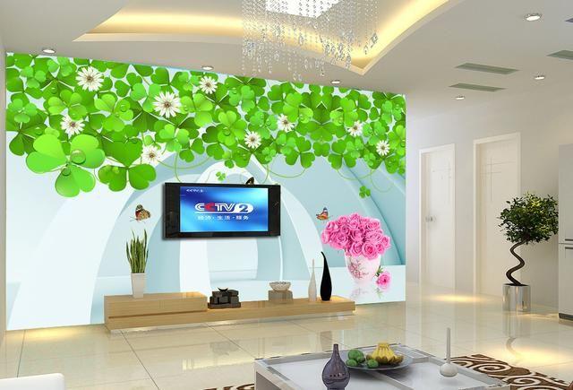 电视背景墙别在用大理石和瓷砖了,现在流行这样设计,简直美爆了