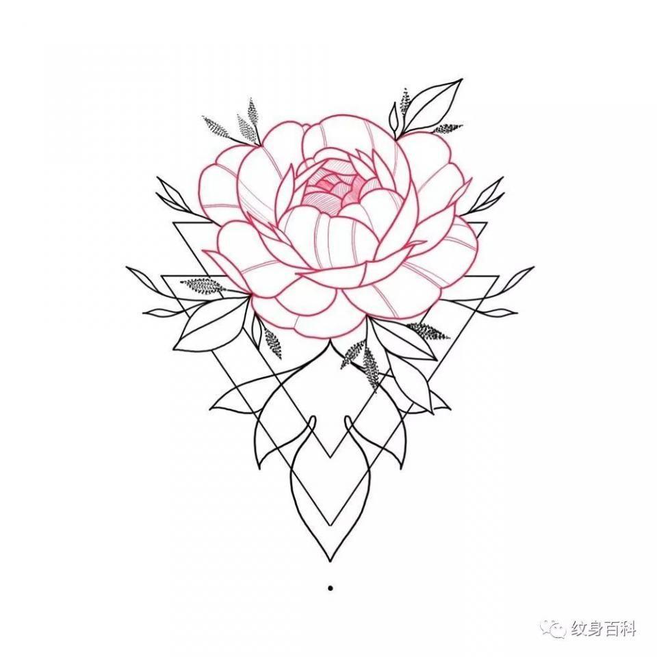 如果把素花纹身做成粉色的,可就漂亮多了