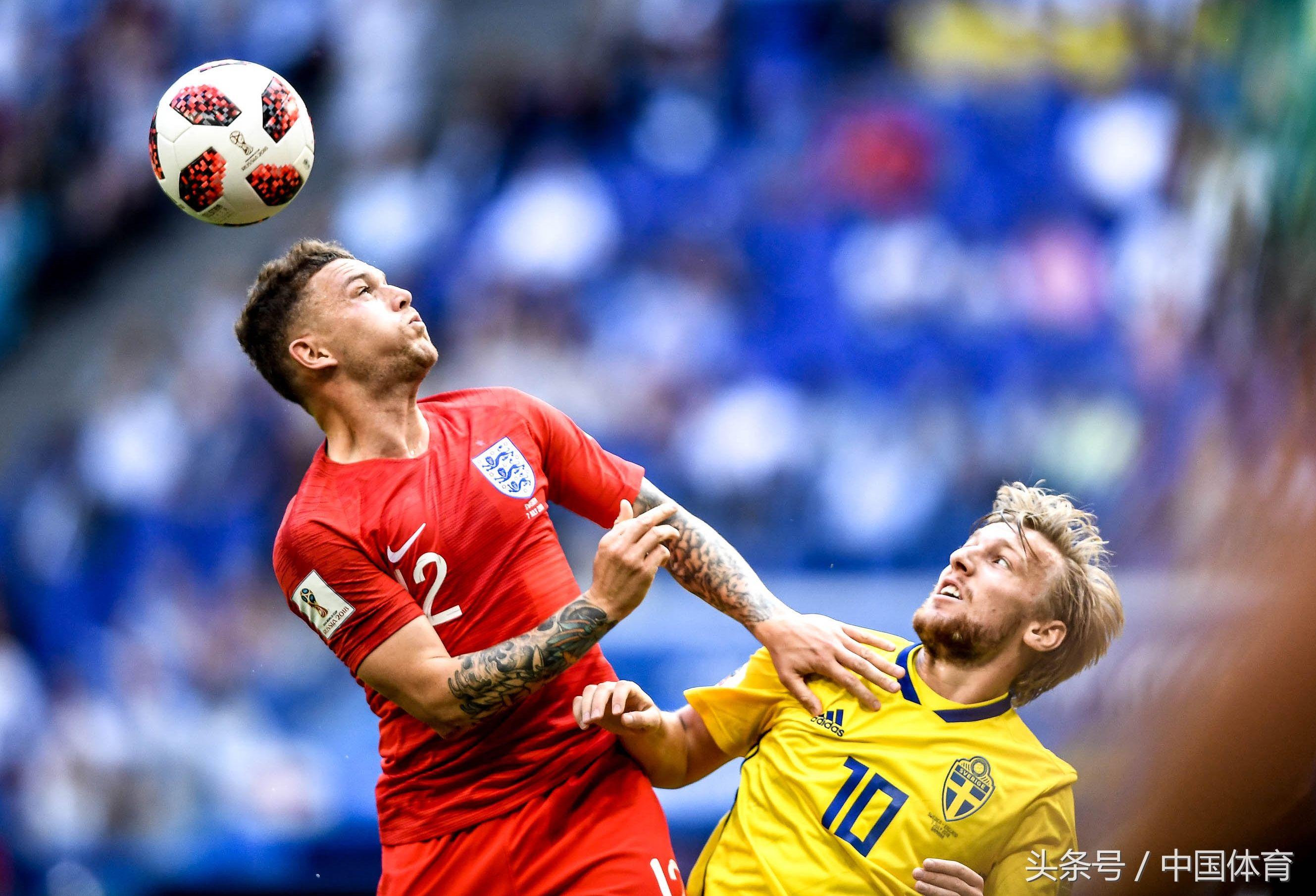 2018fifa俄罗斯世界杯1/4决赛 英格兰队2比0胜瑞典队进四强
