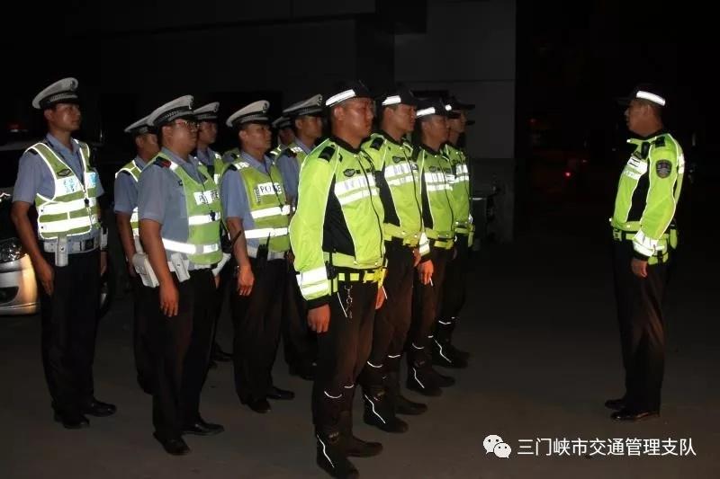 """[精彩]三门峡交警开展严厉打击夜间摩托飙车""""风暴""""行动"""