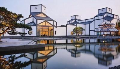 贝聿铭设计的苏州博物馆新馆,落成于2006年
