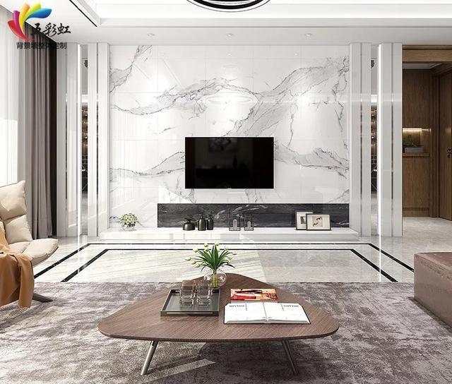 2018年最新电视背景墙装饰,微晶石现代简约影视墙!
