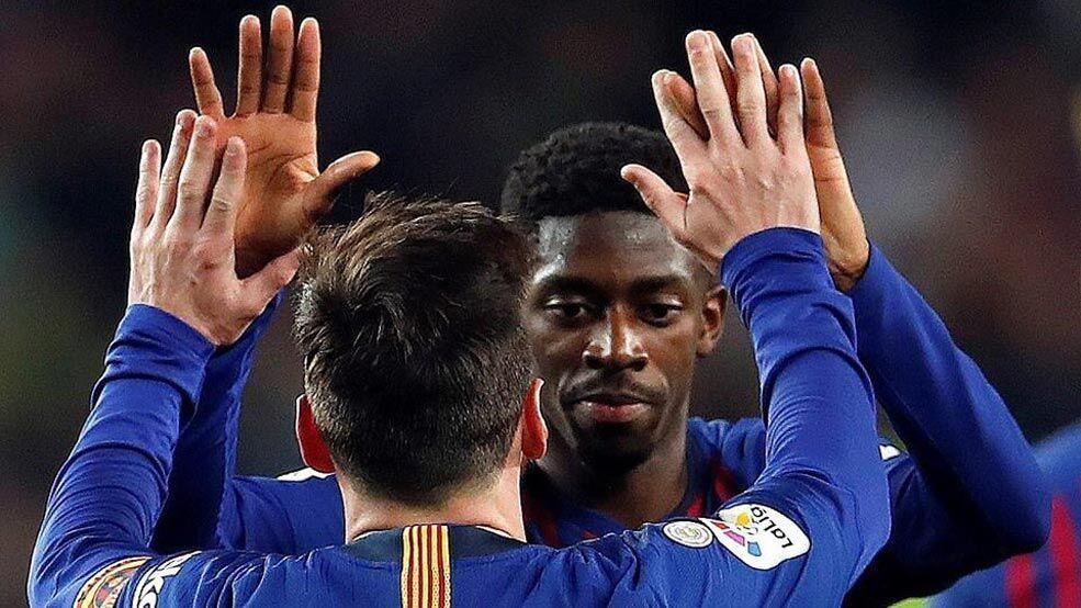 国王杯-登贝莱两球梅西传射 巴萨总比分4-2晋级