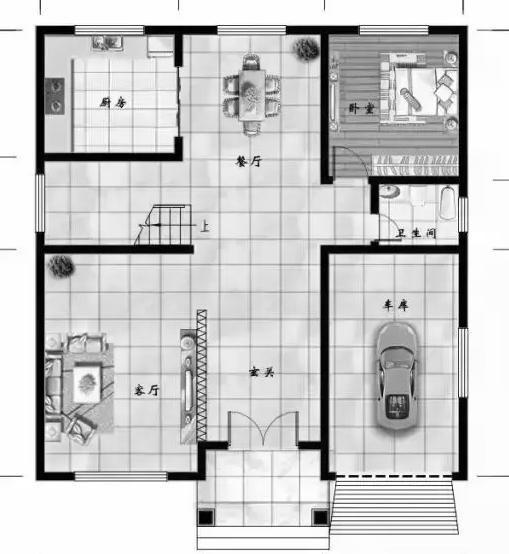 85㎡,房屋总高度11.9米,采用砖混结构,主体预算约35万元.图片