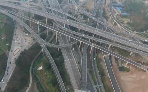 百度看了流泪的立交桥,中国最牛立交桥,走错一步就是重庆一日游