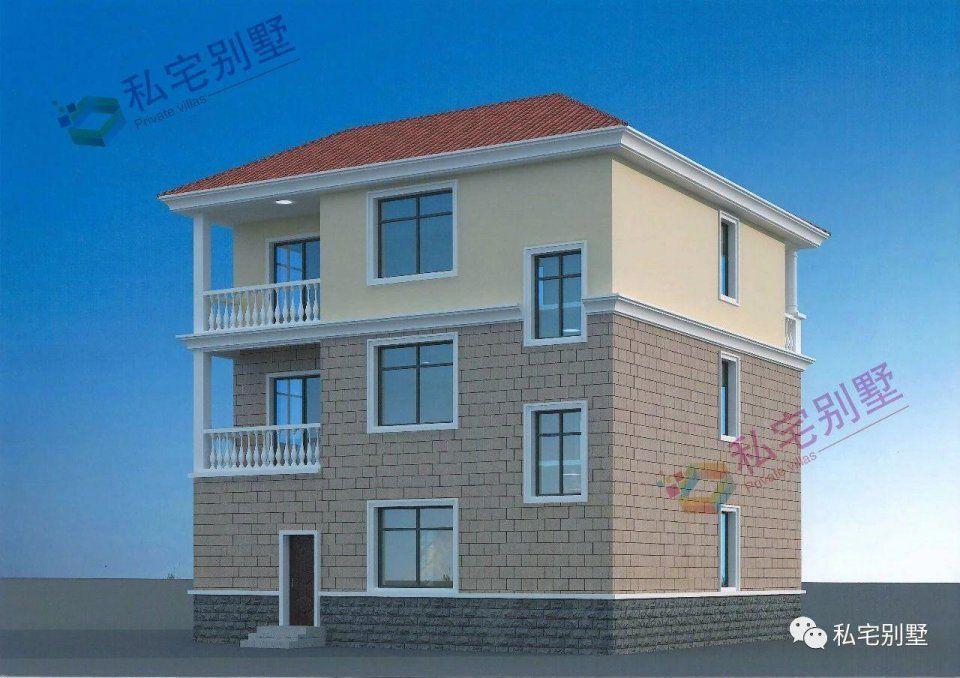 11x11米农村三层简欧式别墅,6间卧室布局很合理