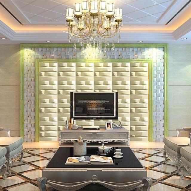 瓷砖电视背景墙欧式中式风情现代简装经典装修装饰效果图