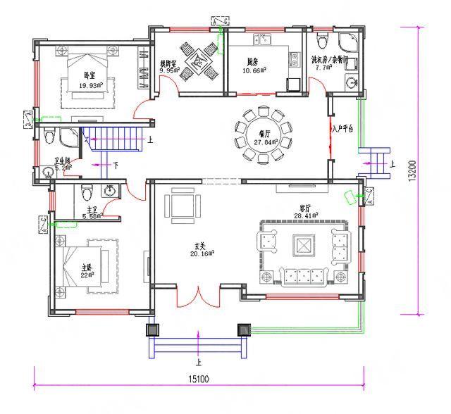 三层农村房屋设计效果图功能设计图片