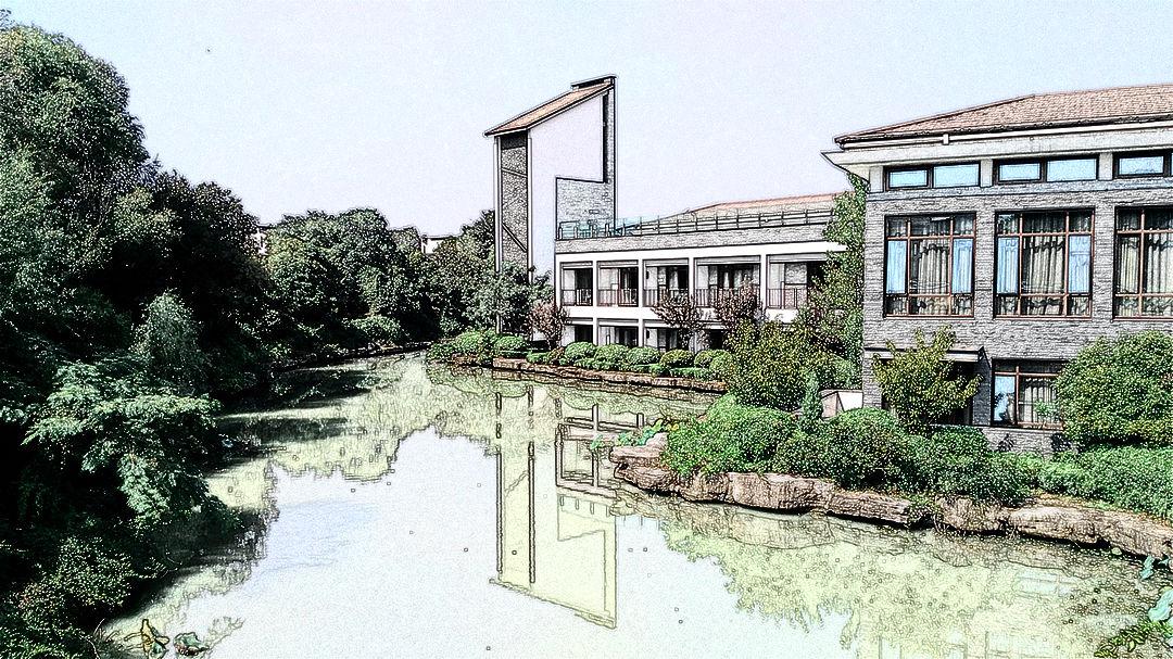 徐州 云龙湖的素描风景