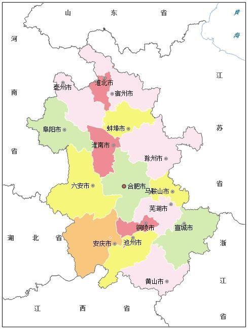 安徽各市排名:阜阳市人口最多,六安市面积最大,合肥市