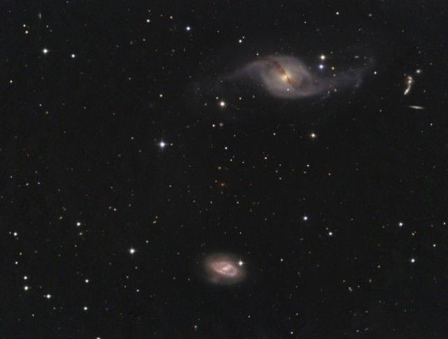 精挑细选的一对漩涡星系对