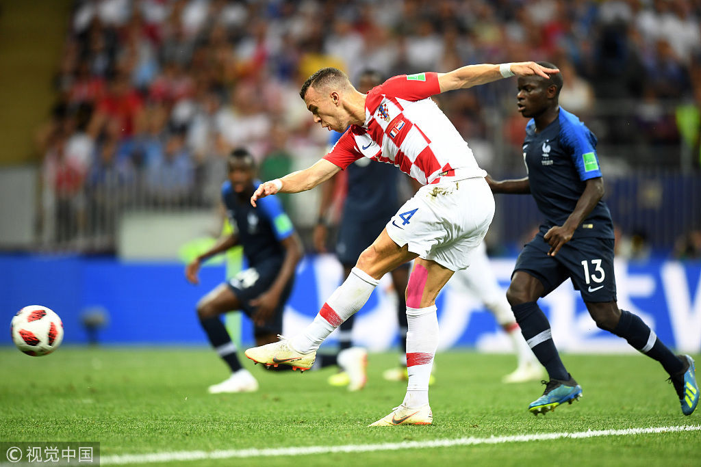 2018世界杯决赛 半场:法国2-1领先克罗地亚