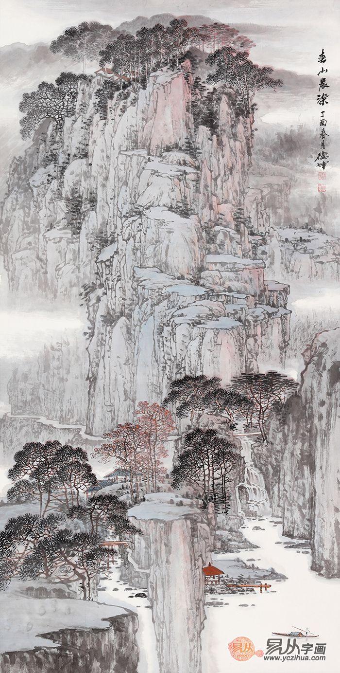 中国画国画山水画竖幅系列,要得就是这样的中国范!图片
