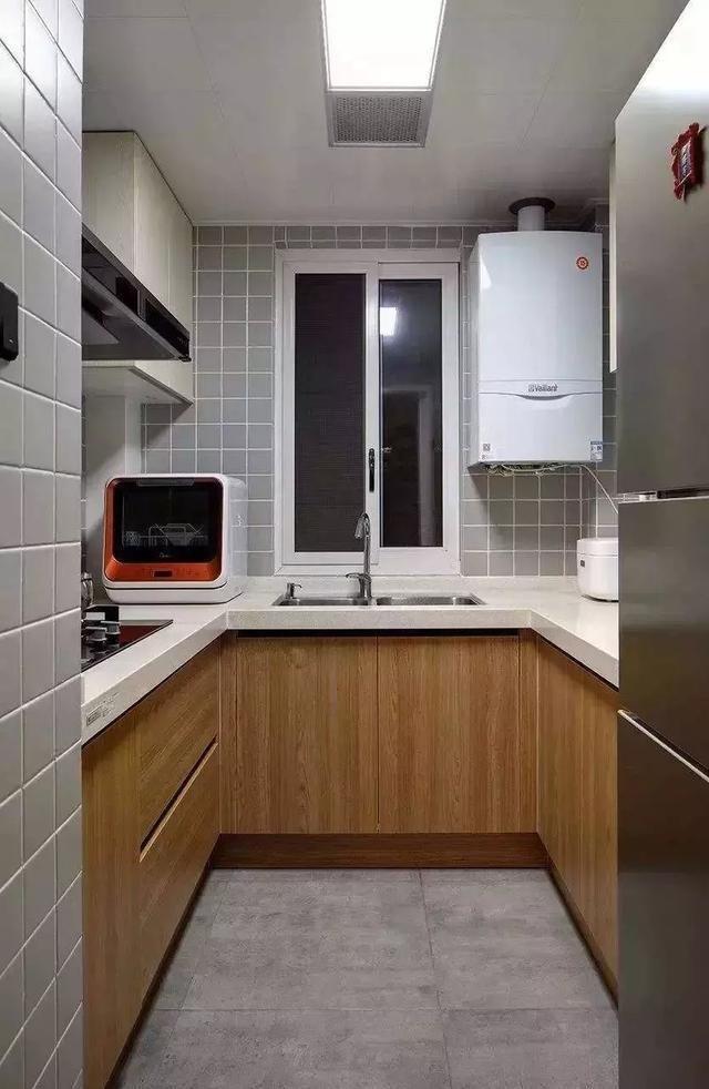 u字型橱柜布局,厨房这样设计实用又美观