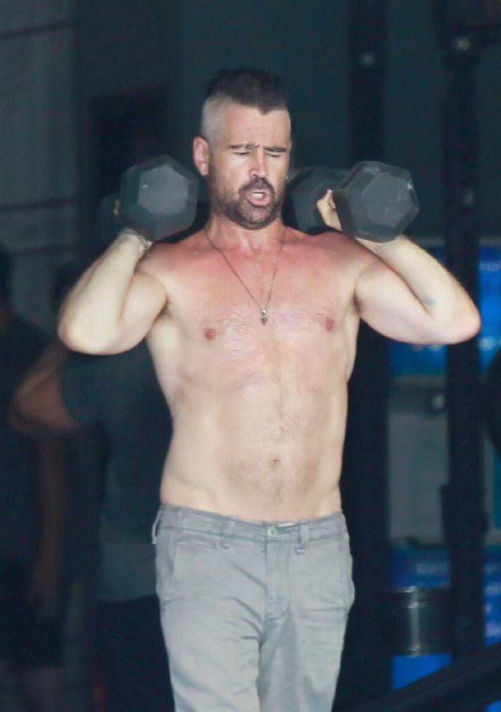 科林·法瑞尔终于去健身了!最近体能下降,撸20斤的铁都吃力了