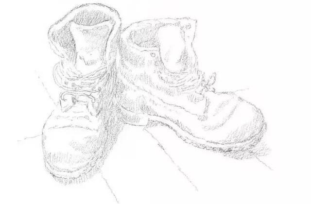 素描教程:静物鞋子的教程