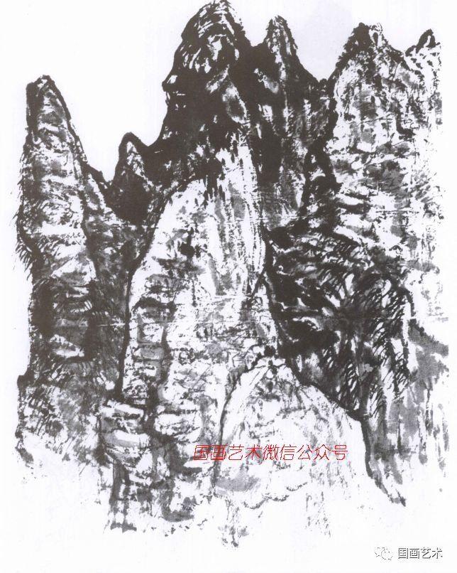 米点皴是山水画中用点子来表现山石的一种皴法.