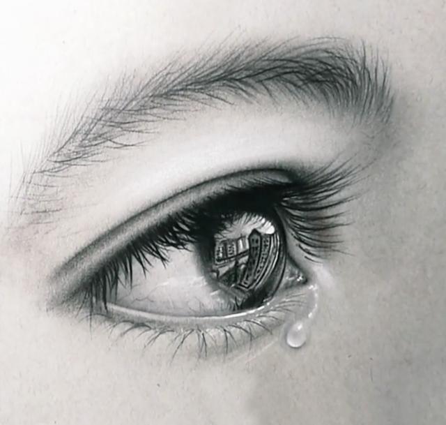 眼睛流眼泪的伤感图片_闭眼睛流眼泪的图片