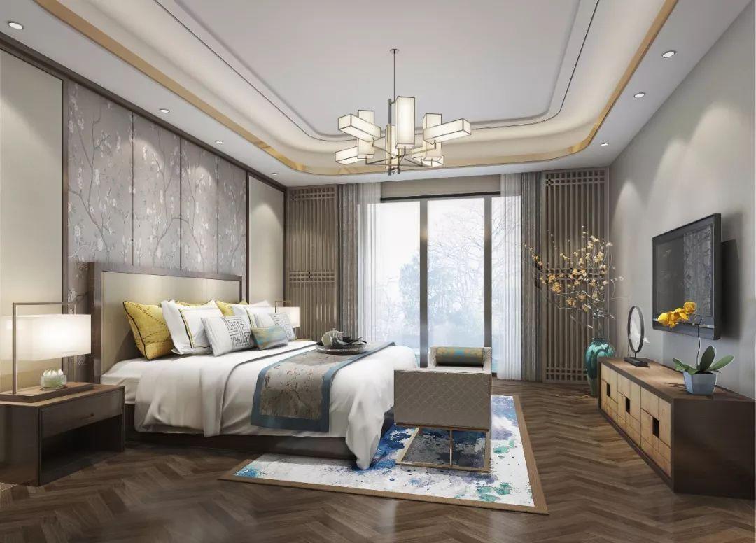 新中式卧室装修效果图,属于中国人自己的风格!
