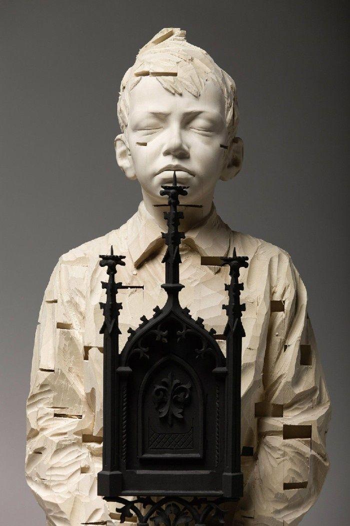 逼真的木雕作品