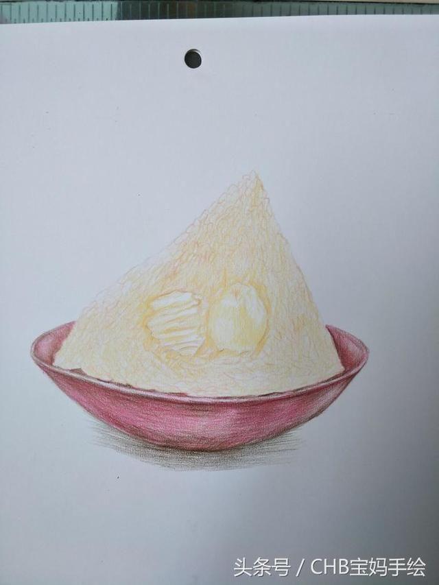 零础学彩铅第六课:粽子详细绘画过程分享