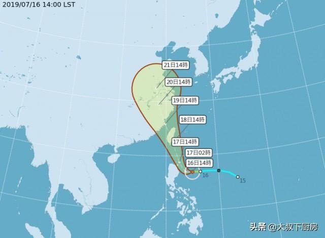 5号台风正式形成!90度北转恐直接扑台,气象专家:雨比风要大