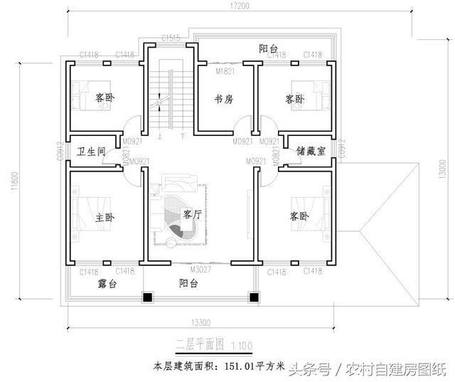 5款带堂屋农村别墅设计图,2款三层,3款二层,哪款最吸引你?