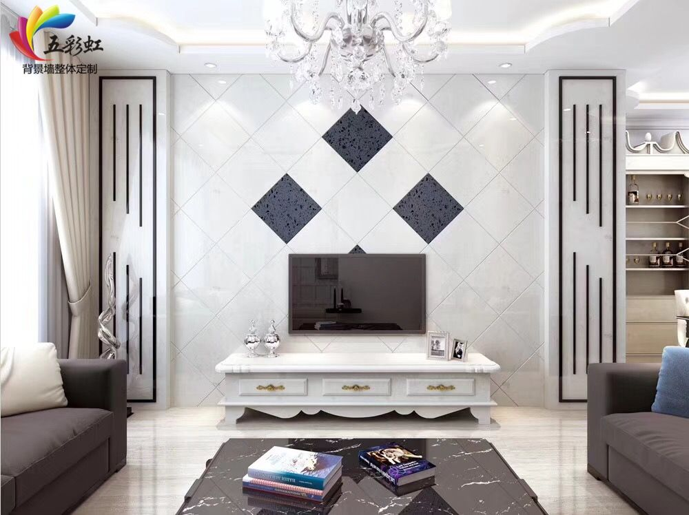 3,家居装饰客厅石材电视背景墙装修效果图图片