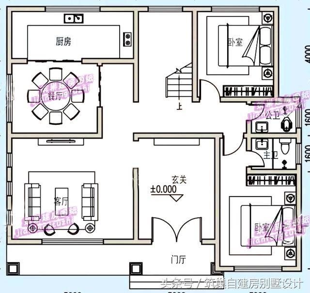 预算30万农村二层现代美式自建房设计图,老少皆宜!