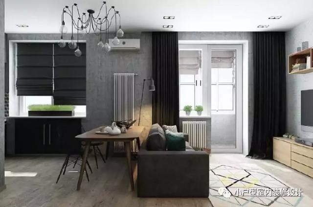 45平米简约风单身公寓,小户型大空间!图片