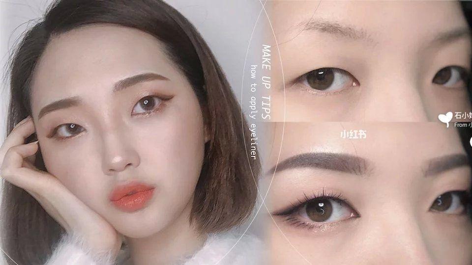 单眼皮、泡泡眼女孩必学:「放大眼妆」必备眼线技巧,超深邃!