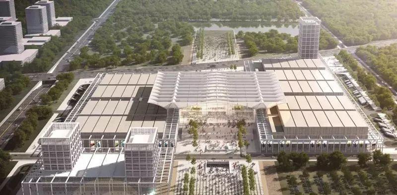 红岛国际会展中心效果图