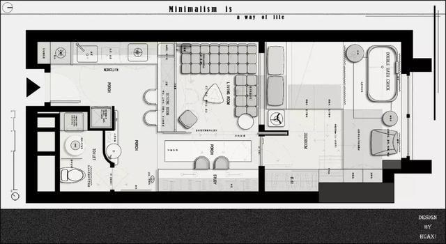 室内设计:2018平面布置参考案例(家装 工装)丨彩平psd