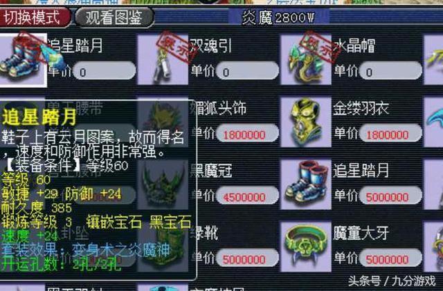 梦幻西游:一套60炎魔神装备竟卖天价,动物套时代来袭?