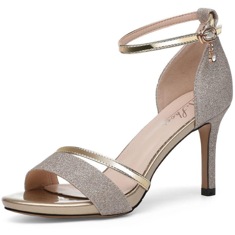 女性健德堂,三伏天适合穿这样的高跟鞋,鲜美显性感,不伤脚显腿长